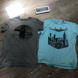 Aeropostale vintage look bundle of 2 shirts size S